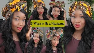 6 different ways to tie a headwrap/turban | Beginner