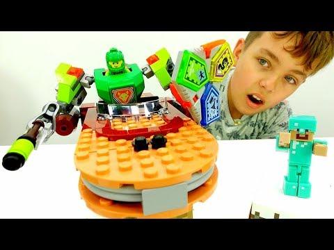 Видео Майнкрафт - Лего доспехи для Нексо Найтс!