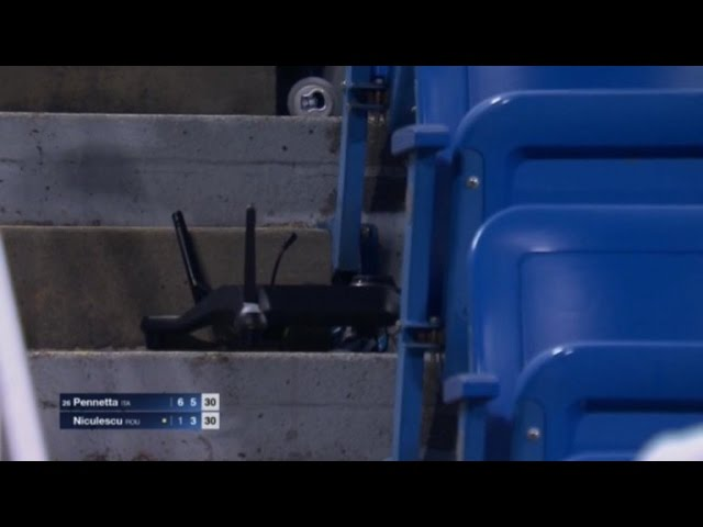 Watch a Drone Crash into the Stands at U.S. Open