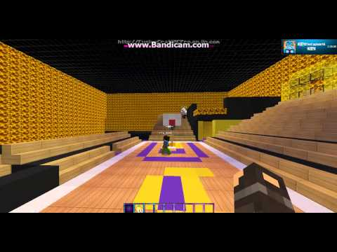 Minecraft server Basketball!! w/ Yourcaptain16 and Krista