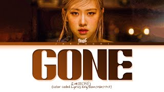 ROSÉ 'Gone' Lyrics 로제 Gone 가사 Color Coded Lyrics
