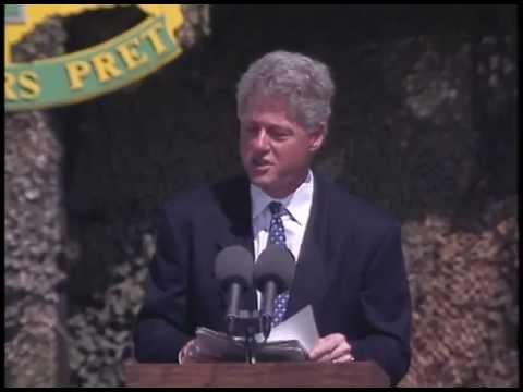 President Clinton at Warrior Base in Port au Prince, Haiti (1995)