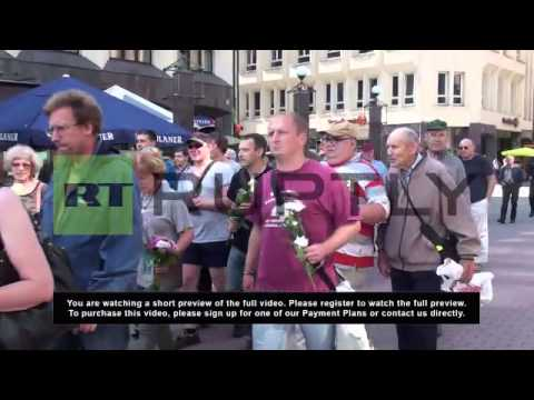 Latvia: Far-right activists celebrate Nazi occupation