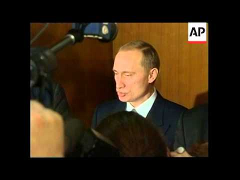 RUSSIA: PUTIN'S PRESIDENTIAL CANDIDACY APPROVED