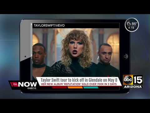 Taylor Swift to kickoff new tour in Glendale