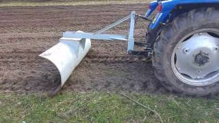 Foton tractor- testing homemade snowplow