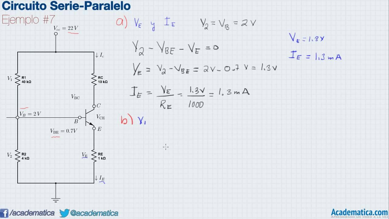 Circuito Rlc Serie Y Paralelo : Circuitos serie paralelo ejemplo youtube
