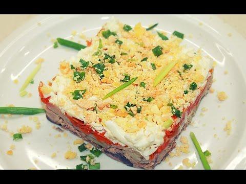 Новогодний Салат Мимоза - Салаты на Новый год 2018 / Mimosa Salad Recipe
