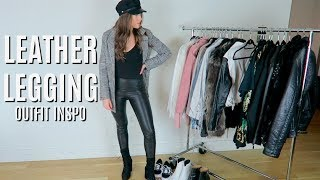 12 LEATHER LEGGINGS OUTFIT IDEAS FOR EVERY OCCASION || STEPHANIE LEIGH