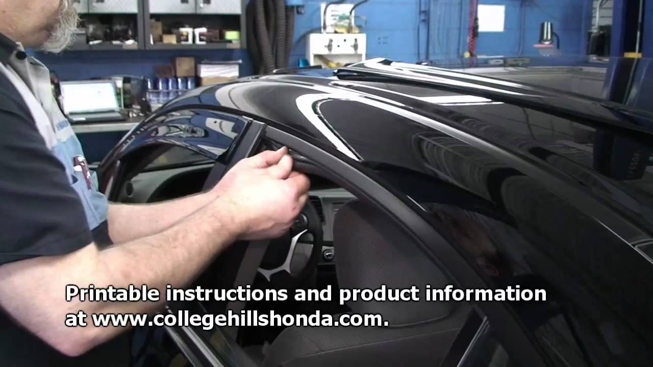 Episode 210 9th Gen Honda Civic Sedan Door Visor
