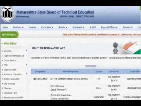 www.msbte.com/MSBTE/MAHARASHTRA TECHNICAL EDUCATION/dte.org.in/RESULTS/LATEST NEWS