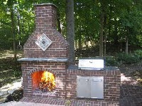 How to build a brick fireplace part 1 of 5 for House plans with fireplace in center of house