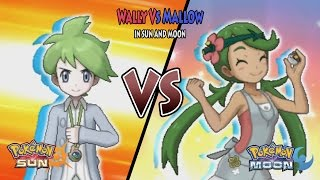 Pokemon Sun and Moon: Rival Wally Vs Mallow (Pokemon Battle Tree Wally)