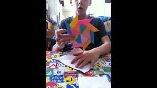 Origami (chinese Paper Folding ) Transforming Ninja Star Tutorial