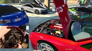 GTA 5 MODS GoPro Freestyle Drifting S14/BMW i8/BMW M5/Ferrari 458