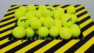 EXPERIMENT Shredding 50 TENNIS BALLS