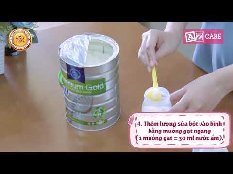 Hướng dẫn pha sữa hoàng gia đúng chuẩn cho bé từ 0 - 3 tuổi