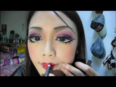   halloween doll makeup tutorial