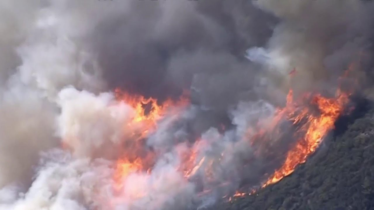 Strong Winds Fuel Destructive Southern California Wildfire   NBC Nightly News