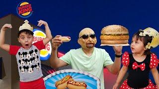 GrandPa Kids Pretend Play in Real Life || Grandpa Kitchen burger #JaiBistaShow