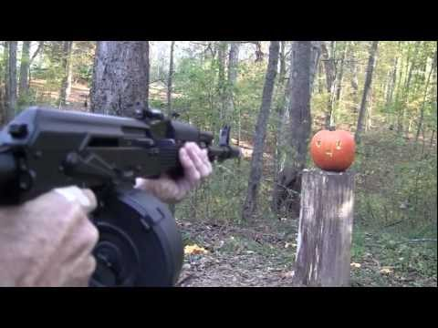 Pumpkin Carving With a Gun III