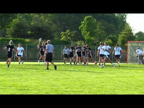 Wallpher goal Mount Hebron/Marriotts Ridge girls lacrosse 3A/2A South finals 5/15/13