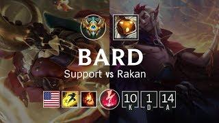Bard Support vs Rakan - NA Challenger Patch 8.20