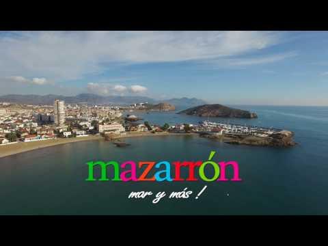 Video aéreo de la Playa de Bahía en Puerto de Mazarrón - Murcia
