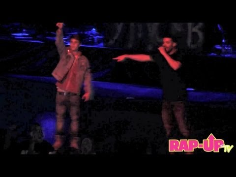 Drake and Justin Bieber Perform 'Trust Issues' at Cali Christmas