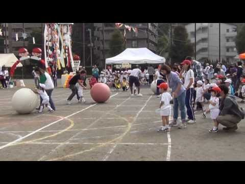 Japanese School Sports Day, Daddy And Aden Parent Son Relay Ball Race video