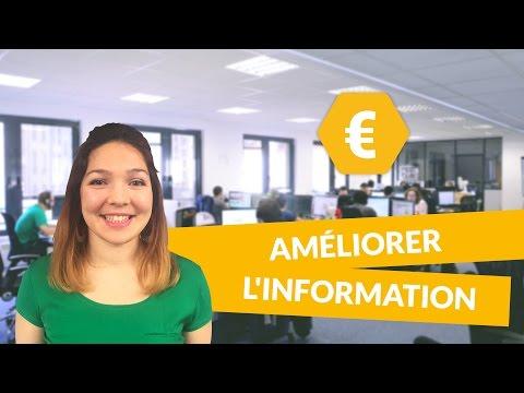 Améliorer l'information - Economie - Première ES - digiSchool