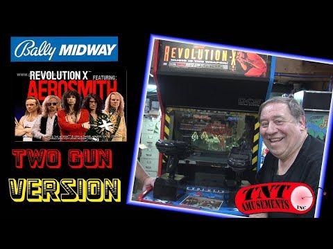 #1411 Bally Midway REVOLUTION X 2 Gun Arcade Video Game- TNT Amusements