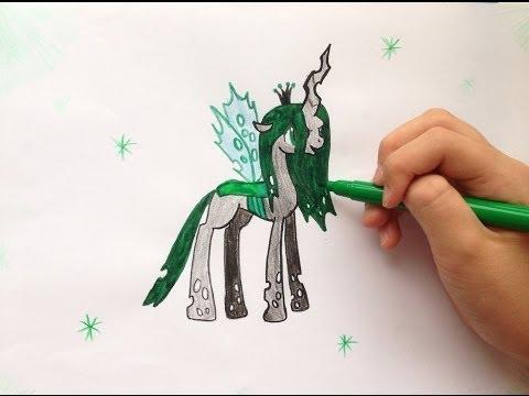 Видео как нарисовать пони Крисалис