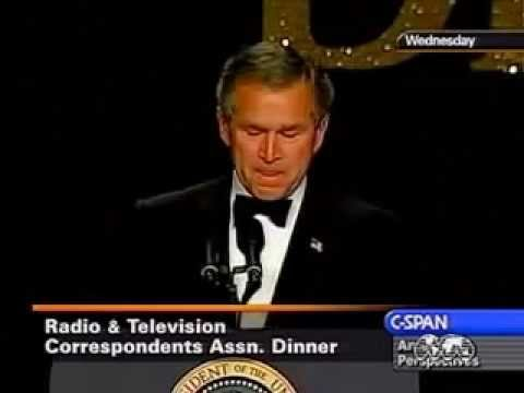Bush laughs at no WMD in Iraq