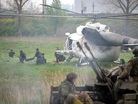 Pro-Russian insurgents shoot down Ukraine helicopters as crisis deepens