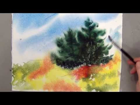 Wet on Wet Watercolor lesson