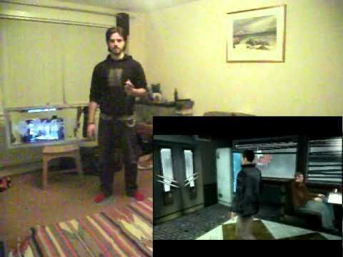 Fahrenheit / Indigo Prophecy played on Kinect Hack (FAAST) with GlovePIE