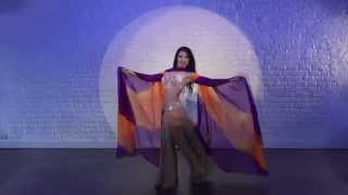 Astman Olesya dance with a shawl
