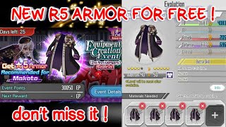 SAO MD - R5 ARMOR FOR FREE !!! ~ EQUIPMENT CREATION 2ND ANNIVERSARY (Special) ~