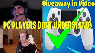 NICK MERCS DEFENDS CONSOLE PLAYERS! (GIVEAWAY) fortnite moments fuuny highlights