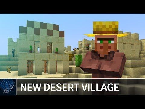 Minecraft 1.14 - NEW DESERT VILLAGE SEED - Best Minecraft 1.14 Snapshot Update Seeds
