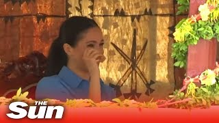 Pregnant Meghan Markle cries tears of joy in Tonga