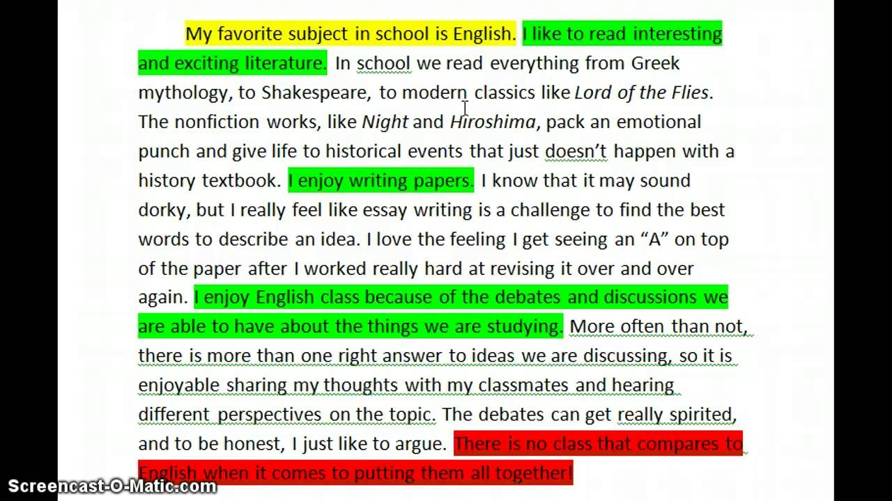 How To Make A Perfect English Essay