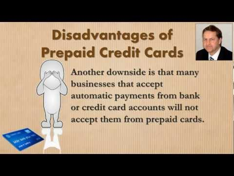 Disadvantages of Prepaid Credit Cards Online -- Video No. 6 in a series of 6
