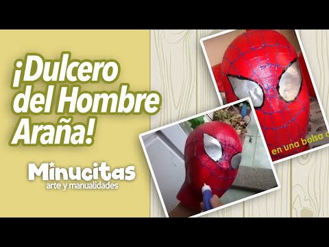 Tutorial. Dulceros del Hombre Araña. Spiderman's boxes of candy.