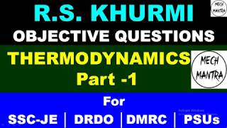 Thermodynamics Objective Question   Part – 1   MCQ   RS Khurmi