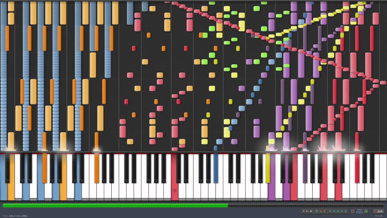Death Waltz Synthesia - YouTube