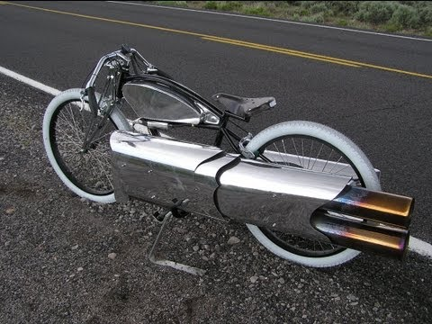Amazing Twin Jet Engine bicycle! pulsejet bike maddoxjets.com