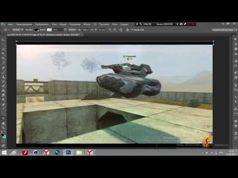 Adobe Photoshop CS6 Как сделать превью для Танков Онлайн?Учимся с Mr.CkuJIoBblu