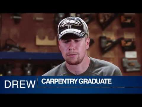 Drew Carpentry Graduate Riverland Community College